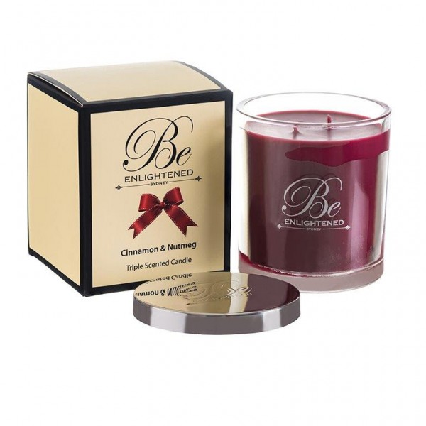 Be Enlightened Elegant 2 Wick Triple Scented Candle Xmas