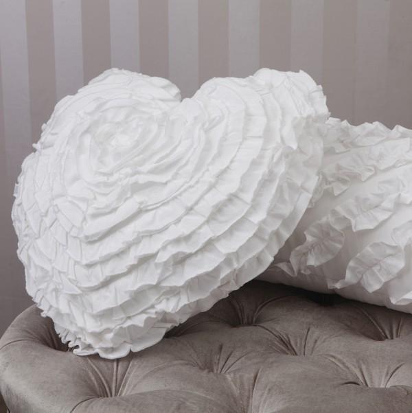 Heart Shaped White Cushion By Logan Amp Mason Cushions