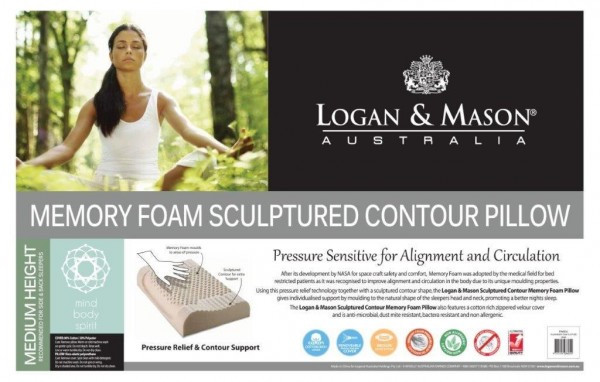 Memory Foam Sculptured Contour Pillow By Logan Amp Mason